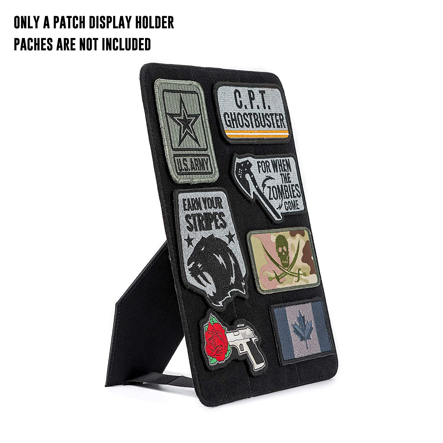 OneTigris Mini Patch Board Stand Vertical & Horizontal Hard Patch Display Holder (Black)