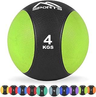 MSPORTS Medicijnbal 1-10 kg - professionele studiokwaliteit incl. oefenposter gymnastiekballen