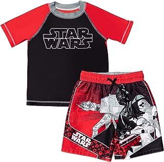 Star Wars Darth Vader Stormtrooper 2 Piece Rash Guard & Swim Trunks Set