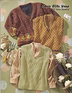 Classic Elite Yarns #837 Inca Alpaca Knitting Pattern - Adult Vests & Pullover