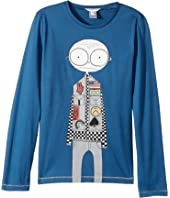 Little Marc Jacobs - Essential Long Sleeve T-Shirt (Big Kids)