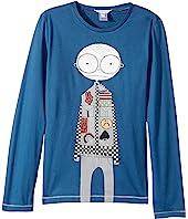 Little Marc Jacobs - Essential Long Sleeve T-Shirt (Big Kids)