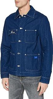 Scotch & Soda Men's Ams Blauw Denim Workwear Jacket 159555