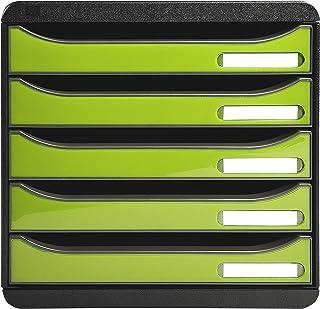 Exacompta - Réf. 3097225D - BIG BOX PLUS - Caisson 5 tiroirs pour document A4+ - Dimensions extérieures : Profondeur 34,7 ...