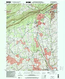 YellowMaps Wind Gap PA topo map, 1:24000 Scale, 7.5 X 7.5 Minute, Historical, 1999, Updated 2001, 26.9 x 22 in