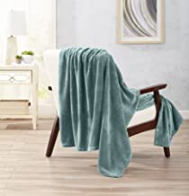 Home Fashion Designs Ultra Velvet Plush Fleece Super Soft Throw Blanket. Warm for Winter Ultimate Comfort. Marlo Collection (Blue Surf)
