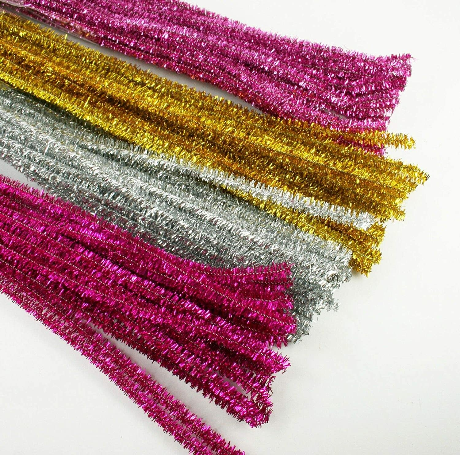 Set of 100 40% OFF Cheap Sale Metallic Tinsel Pipe for Store Crafts SRAu Kids Cleaners