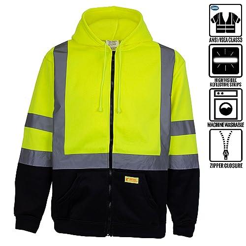 fa42eec98560f New York Hi-Viz Workwear H9012 Men's ANSI Class 3 High Visibility Class 3  Sweatshirt