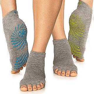 Gaiam Yoga Socks - Toeless Grippy Non Slip Sticky Grip Accessories for Women & Men