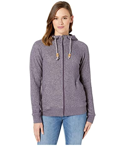 tentree Burney Zip Hoodie (Aubergine Purple/Elm White Marled) Women