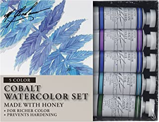 M. Graham Tube Watercolor Paint Cobalt Mix 5-Color Set, 1/2-Ounce