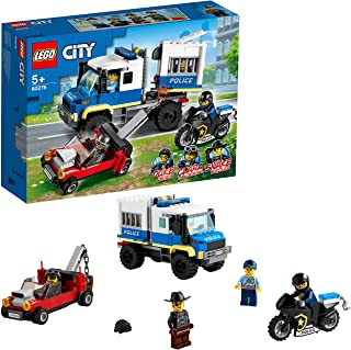 LEGO 60276 City Police Prisoner Transport Tow Truck Toy, Police Station Expansion Set
