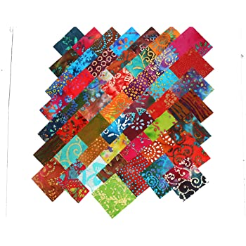 "108 piece Rainbow Basics  charm pack 5/"" squares 100/% cotton fabric quilt"