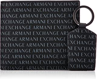 Armani Exchange Men's Wallet + Keychain Accessory Set