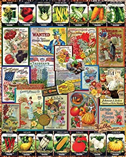 White Mountain Puzzles Garden Seeds - 1000 Piece Jigsaw Puzzle