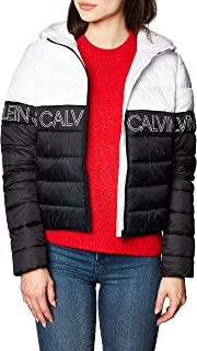Calvin Klein Outline Logo LW Hooded Puffer Chaqueta para Mujer