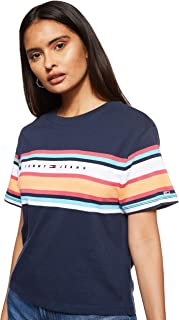 Tommy Jeans Women's TJW STRIPE LOGO T-Shirt