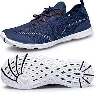 Men's Water Shoes Lightweight Quick Dry Aqua Beach Shoes