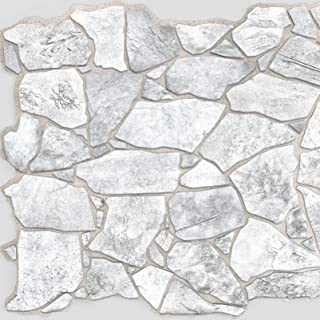 Wild Grey Stone PVC 3D Wall Panels - Interior Design Wall Paneling Decor Commercial and Residential Application, 3.2' x 2.1'