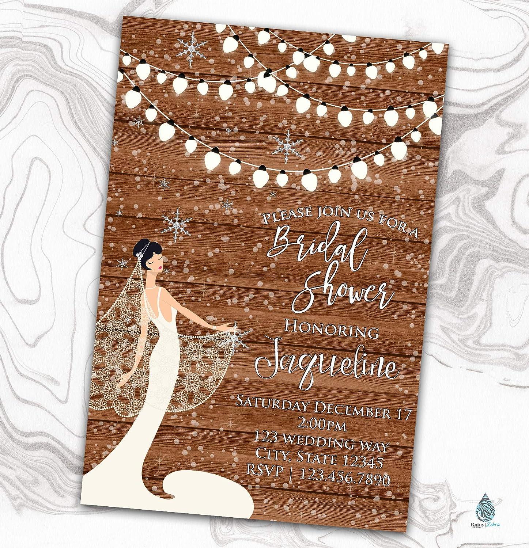 Wooden Winter Great interest Bridal Shower Invitation Invit - Rustic Wonderland depot
