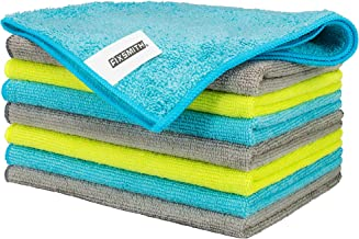 FIXSMITH Microfiber Cleaning Cloth - Pack of 8, All-Purpose Cleaning Towels, Size: 12 x 16 in, Highly Absorbent Cleaning R...