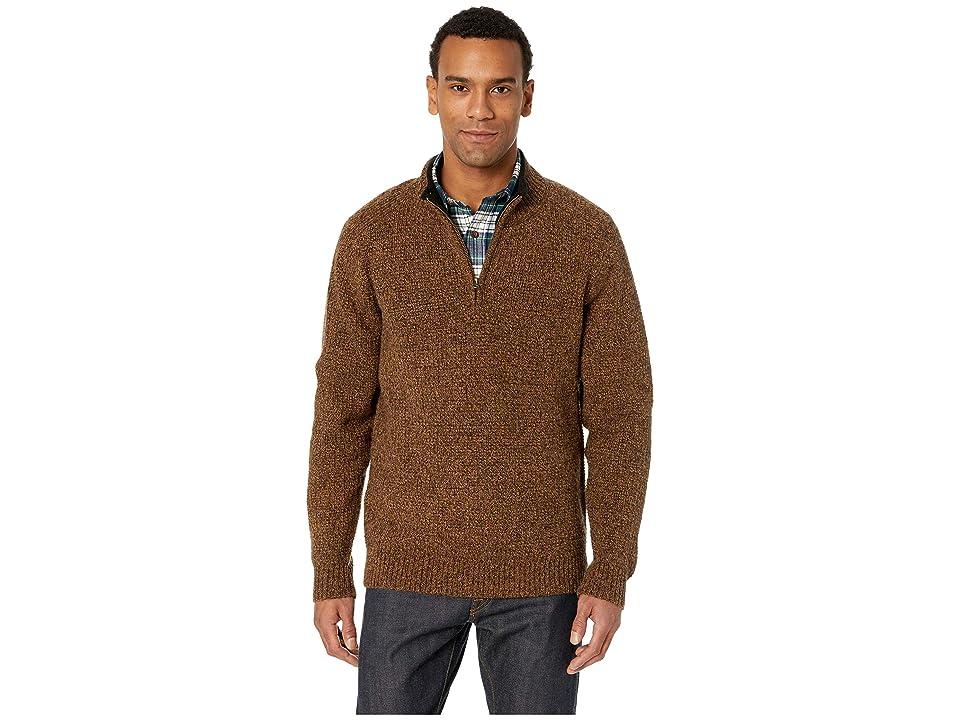 Pendleton Shetland 1/2 Zip Sweater (Beaver Marl) Men