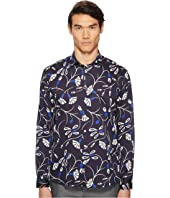 Abstract Blossom Button Down Shirt
