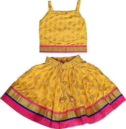 DIAMO Girl's Rayon Readymade Lehenga Choli