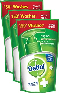 Spar Combo - Dettol Liquid Handwash Refill, Original, 185ml (Pack of 3) Promo Pack