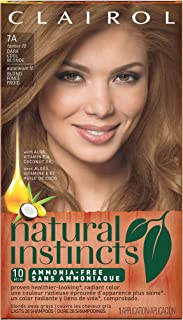 Clairol Natural Instincts Semi-Permanent Hair Color Kit (Pack of 3) 7A/10 Sandalwood Dark Cool Blonde Color, Ammonia Free, Long Lasting