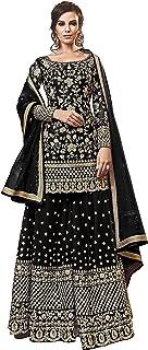 Fabzara Womens New Arrival Black Color Plazzo Style Shalwar Suit & Sets (FZ_6303 F_Black)