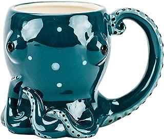 Octopi Octopus Aquamarine Glazed Coffee Soup Mug