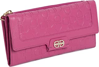 SADDLER Womens Large Real Leather Trifold Credit Card Purse Wallet with Zippered Coin Pockets   Perfect for Debit Travel B...