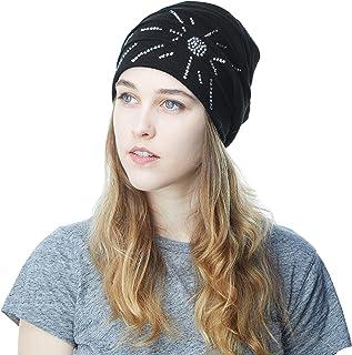 THE HAT DEPOT Women's Knit Handmade Fleece Lined Slouchy Baggy Beanie Skully Hat
