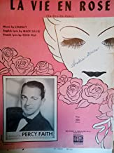 La Vie En Rose (La-vee-on-rose) Featuring a Photograph of Percy Faith on Front Cover
