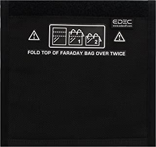 EDEC FBSNW - Faraday Bag - Standard Non-Window Size - Signal Blocking, Anti-Tracking, Anti-Spying, Radiation Protection for Cell Phones, Key Fobs and Credit Cards