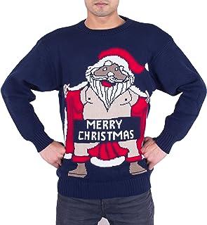 comprar comparacion NOROZE Adultos Novedad Desnudo Santa Feliz Navidad De Punto Jersey Suéter para Hombre