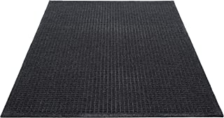 Guardian EcoGuard Indoor Wiper Floor Mat, Recycled Plastic and Rubber, 3' x 10', Charcoal