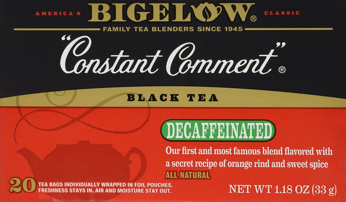 Bigelow Tea Constant Comment Decaf 20 Bags Pack Of 3