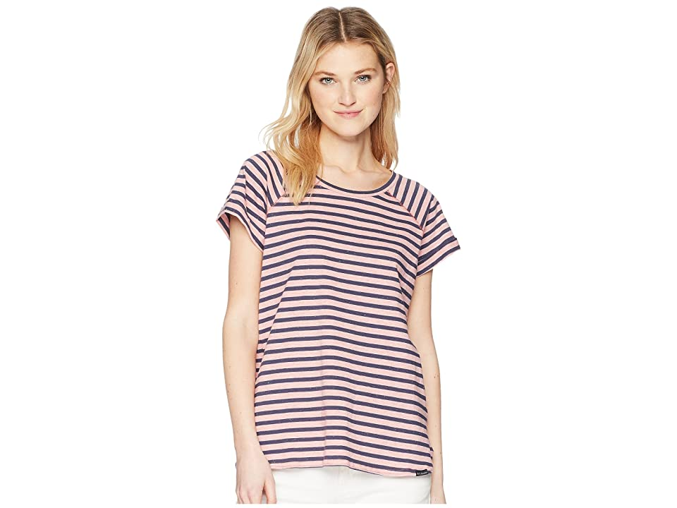 Columbia Trail Shaker Stripe Short Sleeve Shirt (Blush Pink/Nocturnal Heather Stripe) Women