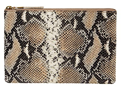Madewell Leather Pouch Clutch Neutral Snake (Moonstone Multi) Handbags