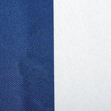 DII Blue Cabana Stripe Outdoor Tablecloth With Zipper, 60x84 w Nautical