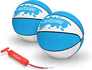 GoSports Water Basketballs 2 Pack | Choose Between Size 3 and Size 6 | Great for Swimming Pool Basketball Hoops