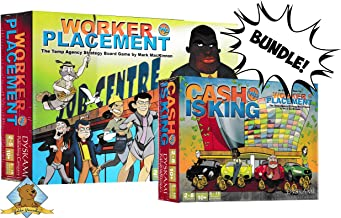 Worker Placement Bundle Featuring Worker Placement Core Board Game and Woker Placment: Cash is King Expansion!