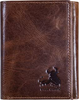 Bull Armour Mens Wallet RFID Blocking Napa Genuine Leather With Secret Pocket