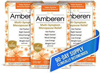 Amberen: Safe Multi-Symptom Menopause Relief. Clinically Shown to Relieve 12 Menopause Symptoms: Hot Flashe...