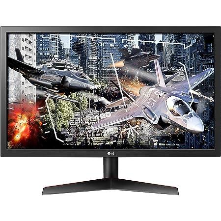 LG UltraGear 24GL600F-B 24 Inch Full HD Gaming Monitor with Radeon FreeSync Technology, 144Hz Refresh Rate, 1ms Response Time - Black