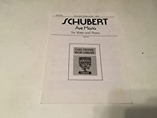 SCHUBERT AVE MARIA FOR VOICE AND PIANO SHEET MUSIC