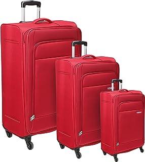 مجموعة حقائب امتعة اوكلاند بعجلات دوارة من امريكن تورستار مكونة من 3 قطع (55 + 68 + 78) بلون احمر