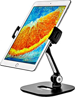 Ipad Stand - Tablet Stand - Ipad Table Stand for Home or Office - Tablet Holder Fits 7-11 inches Samsung iPhone Ipad Air Mini Tablets and Phones - with Camera Adapter